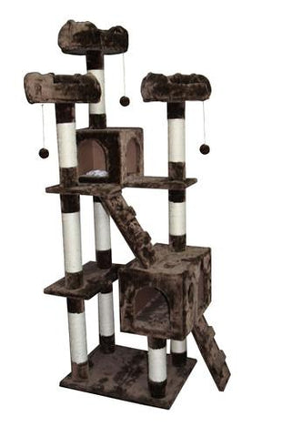 Bel Air Cat Tree in Mocha by Kitty Mansions - Peazz.com