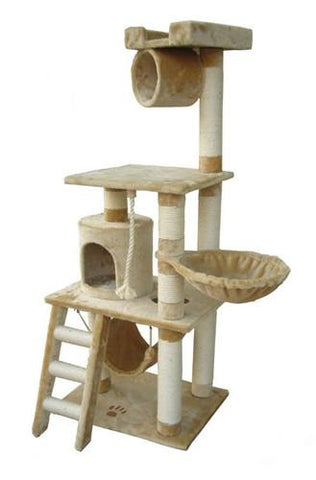 Boston Cat Tree in Beige by Kitty Mansions - Peazz.com
