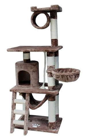 Boston Cat Tree in Mocha by Kitty Mansions - Peazz.com