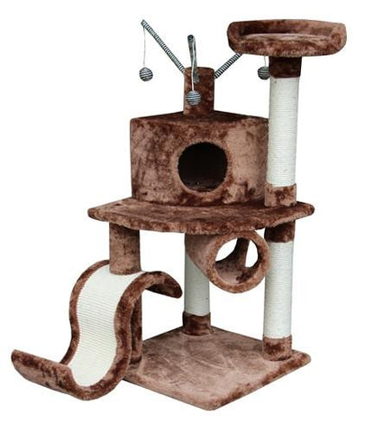 Memphis Cat Tree in Brown by Kitty Mansions - Peazz.com