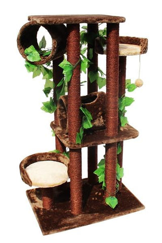 Oak Cat Tree by Kitty Mansions - Peazz.com