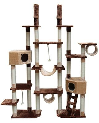 Rome Cat Tree in Brown/Beige by Kitty Mansions - Peazz.com