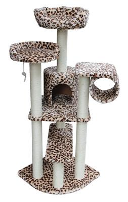 Safari Cat Tree in Leopard by Kitty Mansions - Peazz.com