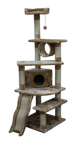 Shanghai Cat Tree in Beige by Kitty Mansions - Peazz.com