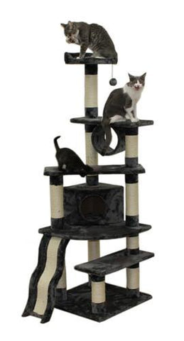 Shanghai Cat Tree in Grey by Kitty Mansions - Peazz.com