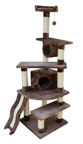 Shanghai Cat Tree in Mocha by Kitty Mansions - Peazz.com