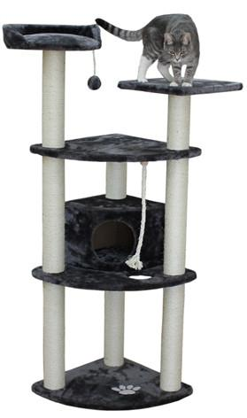 Toronto Cat Tree in Grey by Kitty Mansions - Peazz.com