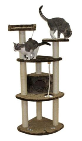 Toronto Cat Tree in Mocha by Kitty Mansions - Peazz.com