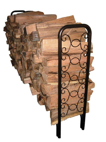 Landmann 82436 8' Ornamental Scroll Hammered Bronze Log Rack (32Mm Tube And 1.0Mm Thickness) - Peazz.com