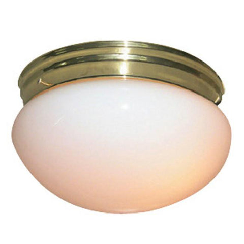 Woodbridge Lighting Basic 1-light Polished Brass Mushroom Glass Flush Mount - Peazz.com