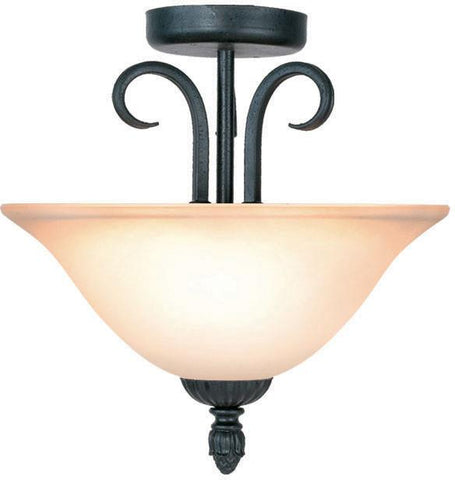 Woodbridge Lighting Jamestown Indoor Lighting Semi-Flush Mount 38006-TBK - Peazz.com