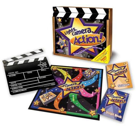 Lisa LeLeu Studios W12357 Lights, Camera, Action Game In Deluxe Wooden Box - Peazz.com