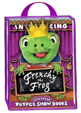 Lisa LeLeu Studios W12347 Puppet Play Set Storybook - Frenchy The Frog - Peazz.com