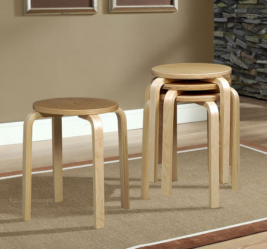 17 Bentwood Stool Natural 1771NAT 04 AS U 4 Pack