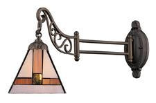Landmark 079-TB-01 Mix-N-Match One Light Swingarm Sconce in Tiffany Bronze - Peazz.com