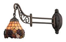 Landmark 079-TB-07 Mix-N-Match One Light Swingarm Sconce in Tiffany Bronze - Peazz.com