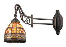 Landmark 079-TB-10 Mix-N-Match One Light Swingarm Sconce in Tiffany Bronze - Peazz.com