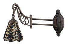 Landmark 079-TB-20 Mix-N-Match One Light Swingarm Sconce in Tiffany Bronze - Peazz.com