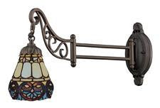 Landmark 079-TB-21 Mix-N-Match One Light Swingarm Sconce in Tiffany Bronze - Peazz.com