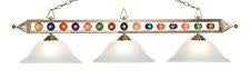Landmark 190-1-SN-G1 Designer Classics Three Light Billiard/Island in Satin Nickel with White Faux Alabaster Glass Shades - Peazz.com