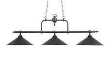 Landmark 191-TB Designer Classics Three Light Billiard/Island in Tiffany Bronze w/ Metal Shades - Peazz.com