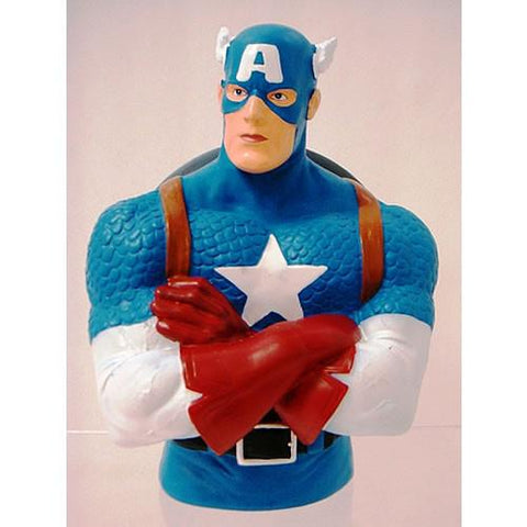 Monogram International, Inc. MG670138 Marvel Bank - Captain America Bust - Peazz.com
