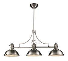 Landmark 66125-3 Chadwick Three Light Billiard/Island Light in Satin Nickel - Peazz.com