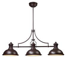 Landmark 66135-3 Chadwick Three Light Billiard/Island Light in Oiled Bronze - Peazz.com