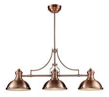 Landmark 66145-3 Chadwick Three Light Billiard/Island Light in Antique Copper - Peazz.com
