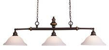 Landmark 66175-3 Lurray Three Light Billiard/Island Light in Aged Bronze - Peazz.com