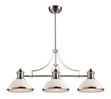 Landmark 66215-3 Chadwick Three Light Billiard in Polished Nickel - Peazz.com