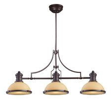 Landmark 66235-3 Chadwick Three Light Billiard in Oiled Bronze - Peazz.com