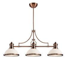 Landmark 66245-3 Chadwick Three Light Billiard in Antique Copper - Peazz.com