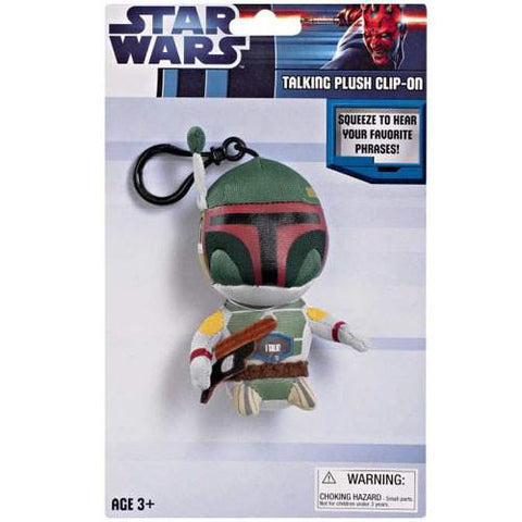 "Underground Toys UT004854 Star Wars 4"" Talking Clip-On Plush - Boba Fett - Peazz.com"