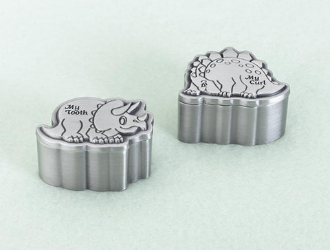 Lillian Rose 24TC720 D Dinosaur Pewter Tooth & Curl Box - Peazz.com