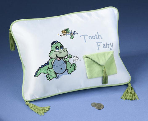 Lillian Rose 24TF405 Dinosaur Tooth Fairy Pillow - Peazz.com