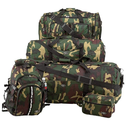 Extreme Pak 5pc Luggage Set with Invisible Pattern Camo - Peazz.com