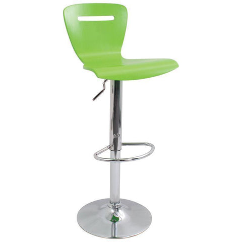 LumiSource H2 Barstool Green BS-H2-G - BarstoolDirect.com