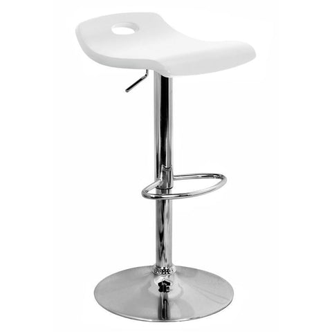 LumiSource Surf Barstool White BS-SURF-WD-W - BarstoolDirect.com