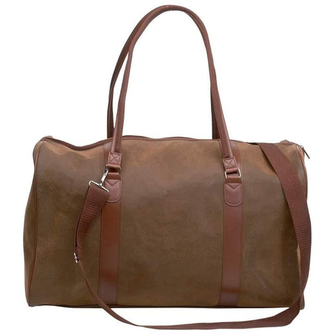 "Embassy Travel Gear 21"" Brown Faux Leather Tote Bag - Peazz.com"