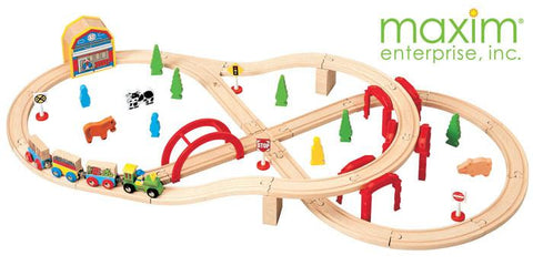Maxim Enterprise 52 Piece Multi-Level Train Set (37154-MB) - Peazz.com