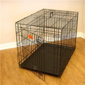"36"" Majestic Pet Single Door Folding Dog Crate Cage - Medium - Peazz.com"