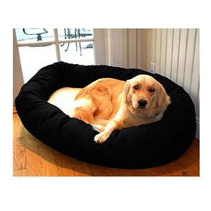 "Majestic Pet Small 24"" Bagel Bed - Black & Sherpa - Peazz.com"