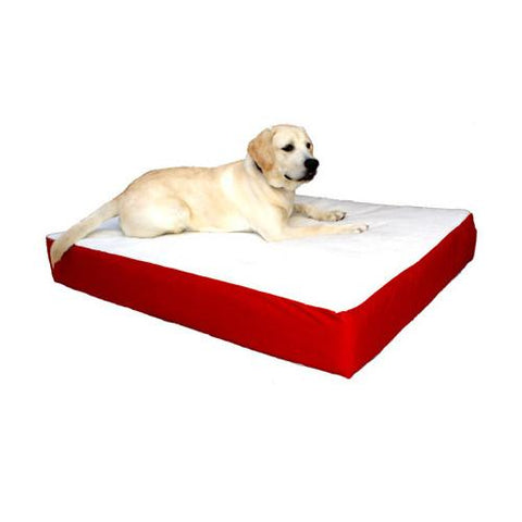 Majestic Pet Small/Medium 24x34 Orthopedic Double Pet Bed - Red - Peazz.com