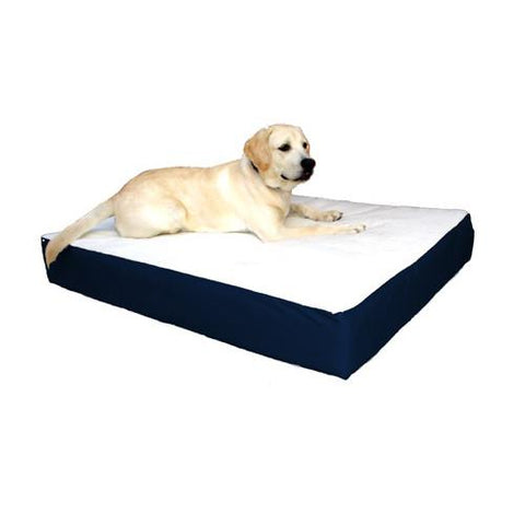 Majestic Pet Small/Medium 24x34 Orthopedic Double Pet Bed - Blue - Peazz.com