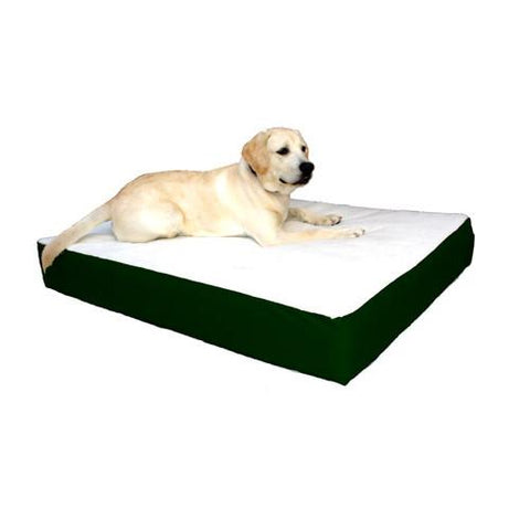Majestic Pet Small/Medium 24x34 Orthopedic Double Pet Bed - Green - Peazz.com