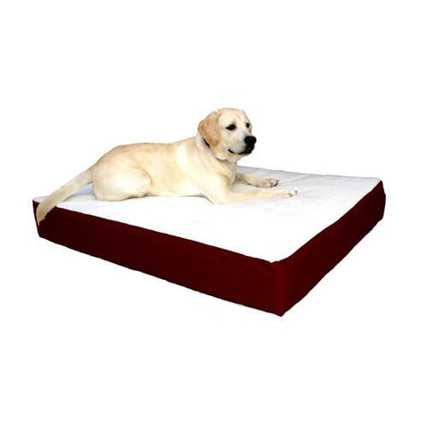 Majestic Pet Small/Medium 24x34 Orthopedic Double Pet Bed - Burgundy - Peazz.com