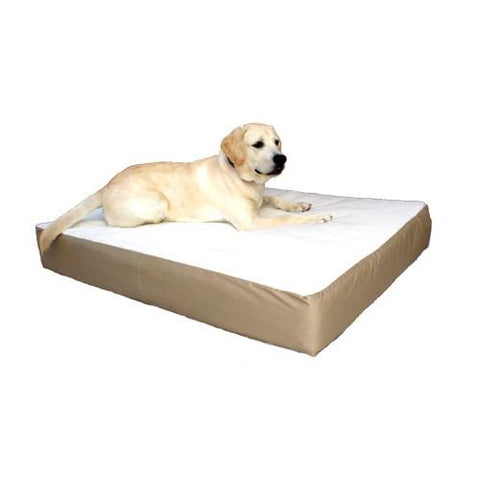 Majestic Pet Small/Medium 24x34 Orthopedic Double Pet Bed - Khaki - Peazz.com