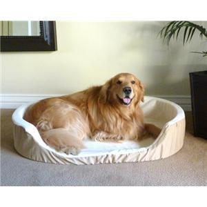 Majestic Pet Small 23x18 Lounger Pet Bed - Khaki - Peazz.com