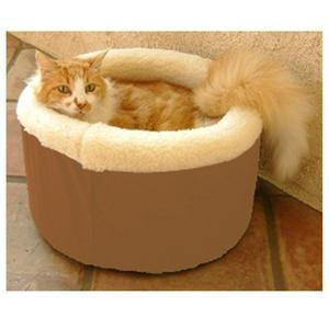 "Majestic Pet Small 16"" Cat Cuddler Pet Bed - Khaki - Peazz.com"